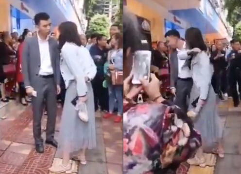 Chinese Girlfriend Slaps Her Boyfriend 52 Times For Not Getting Her A Phone On Valentine's Day