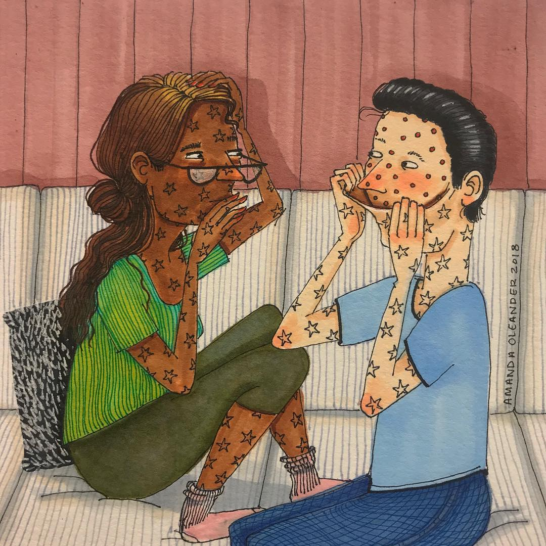 Artist With Her Illustrations Shows What Really It Is Like To Be In Love