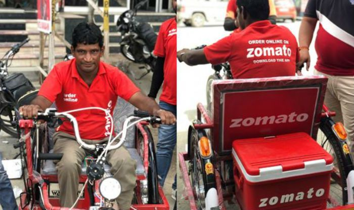 Zomato Gifts An Electric Tricycle To The Specially-Abled Food Delivery Boy From India