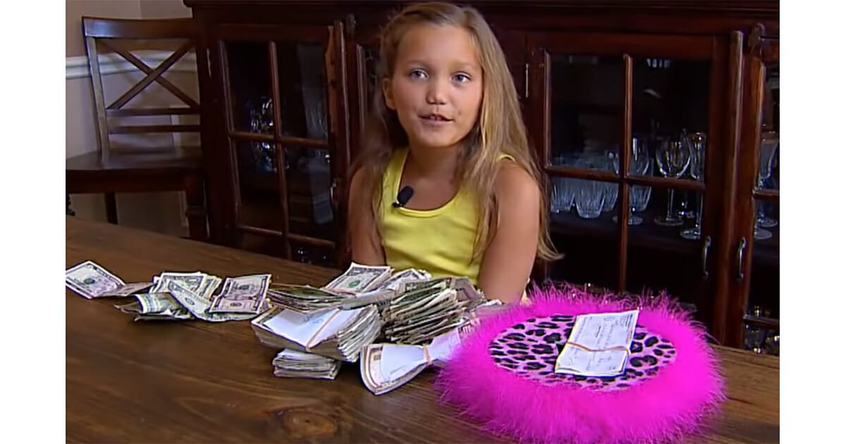 A Little Girl, Addie Bryan Collected $69,500 For The Children Of The Hospital That Helped Her With Her Treatment