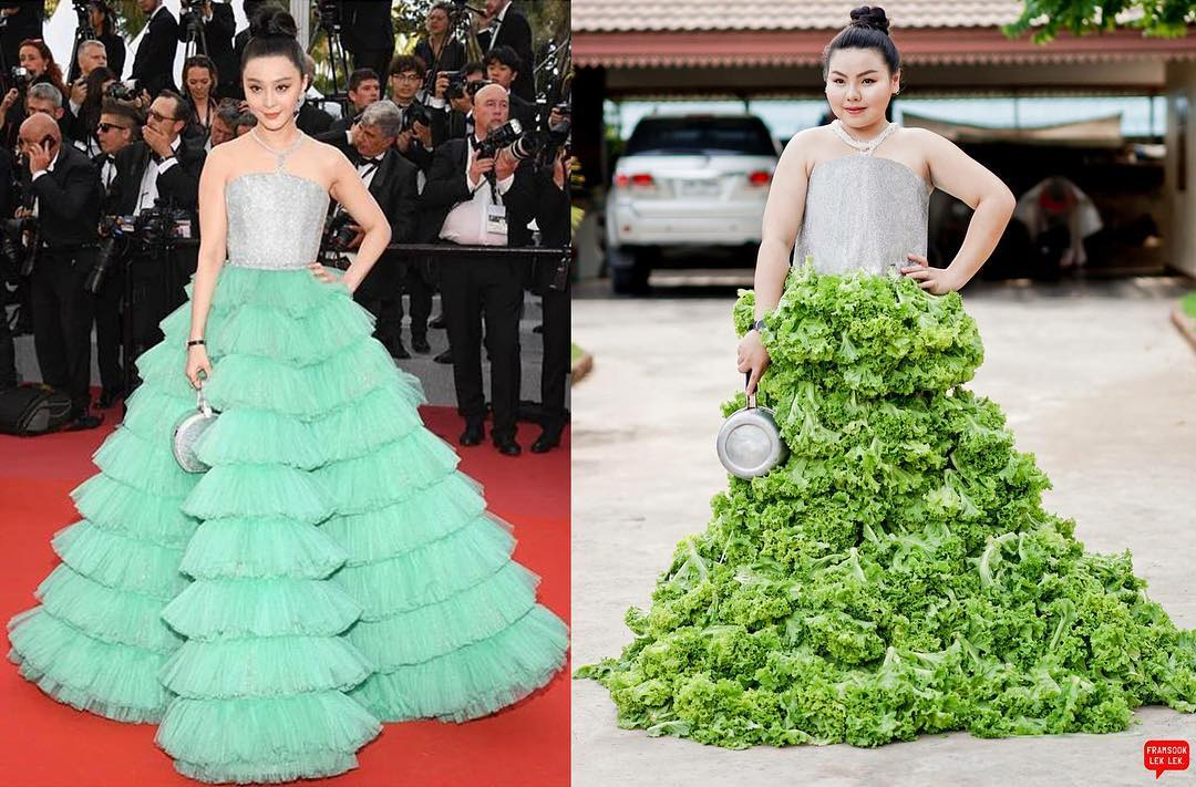 Girl Recreates Low-cost Versions Of High-end Fashion Using Household Items