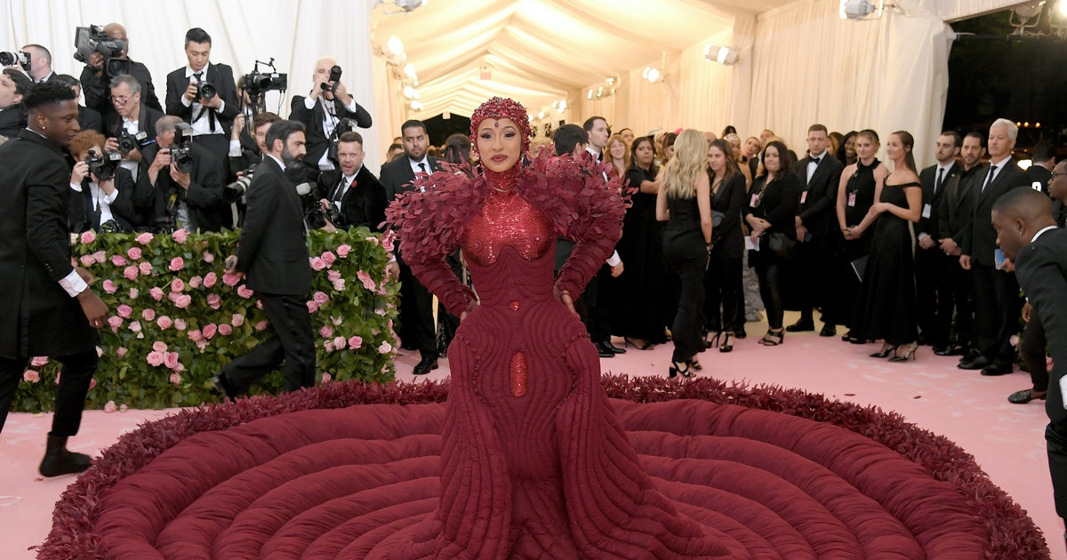 Cardi B's 'Menstruation' Gown Steals The Show At The Met Gala 2019