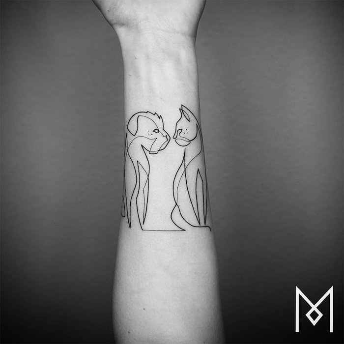 This Tattoo Artist Made This Amazing Series Of Tattoos From Just One Continuous Line