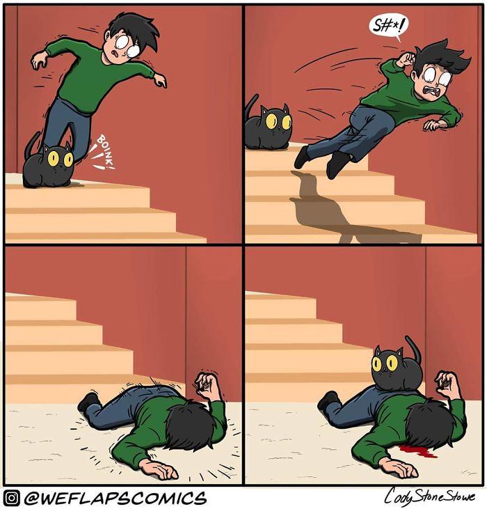 Living with cat through comics