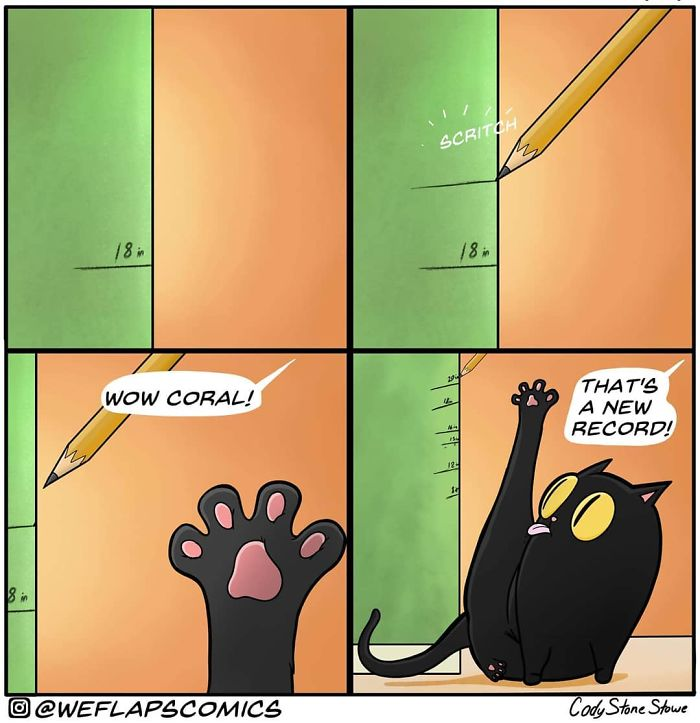 Artist Describes How It Feels To Be Living With A Cat Through His Comics