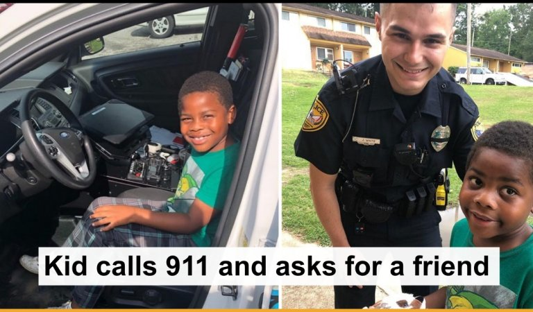 6-Year-Old Lonely Boy Dials 911 Asking For A Friend, Cop Shows Up At His Door