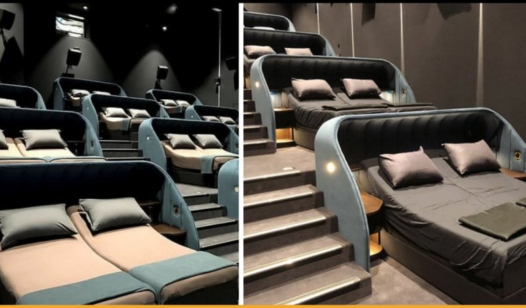 This New Bedroom Cinema In  Switzerland With Double Beds Is Treat For The Movie Lovers