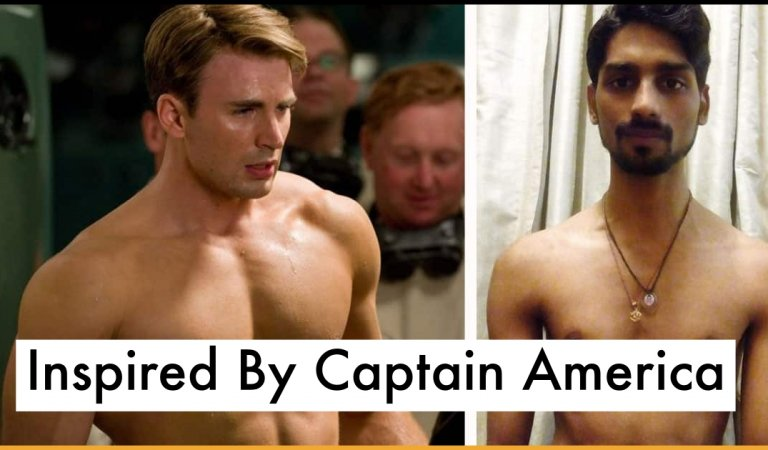 Skinny Boy Gets Inspired By Captain America Hits Gym And Transforms His Body