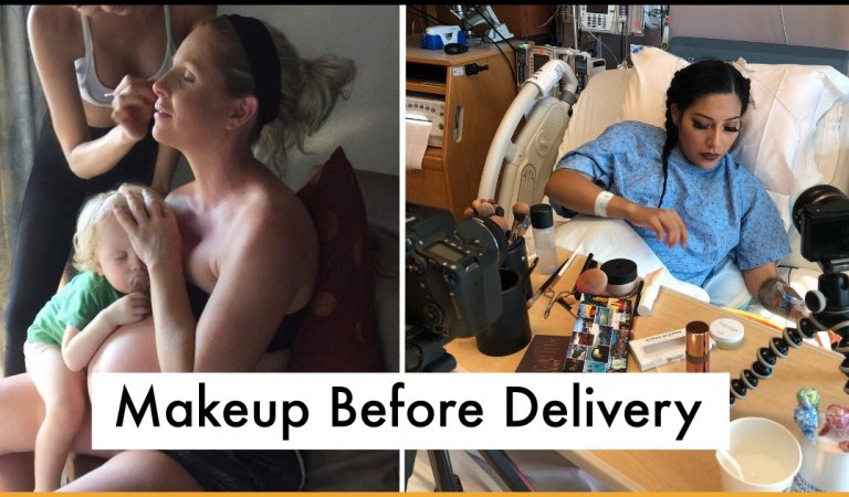 These Mothers Made Sure Their Makeup Was Flawless Before They Gave Birth To Their Child