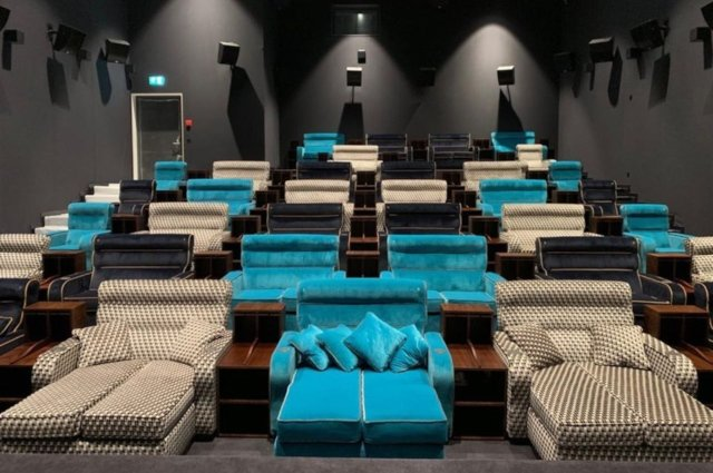 This New Bedroom Cinema In Switzerland With Double Beds Is Just Amazing