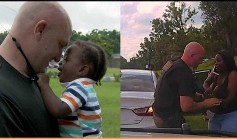 Cop Who Saved A Baby's Life A Year Ago Is Now His Godfather