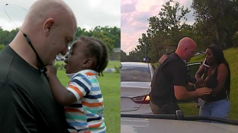 Cop Who Saved A chocking Baby's Life A Year Ago Is Now His Godfather