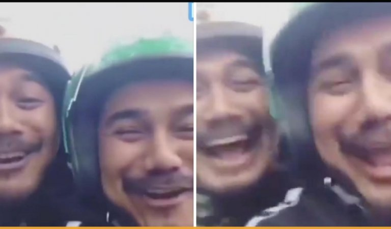 Grab Rider Gets Surprised When The Passenger He Picks Up Looks Exactly Like Him
