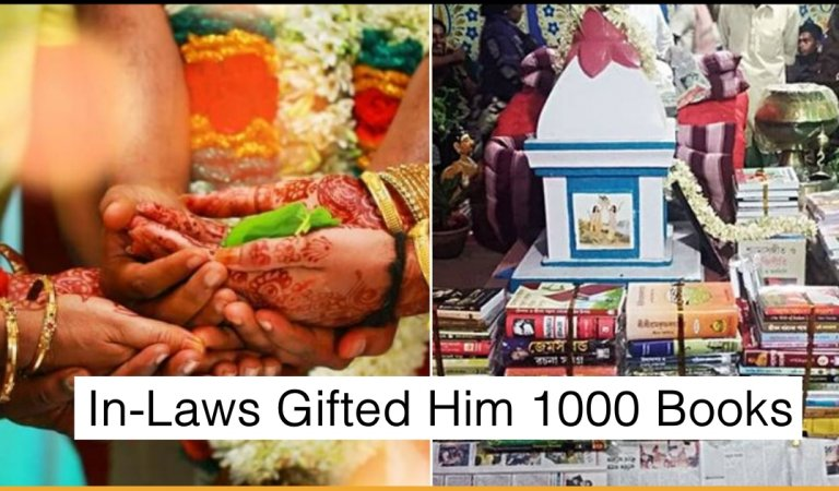 An Indian Groom Refused To Take Dowry, Impressed In-Laws Gifted Him 1000 Books