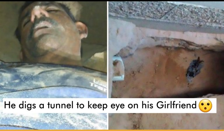 Man Digs A Tunnel To Spy On Ex-Girlfriend And Nearly Buries Himself Alive