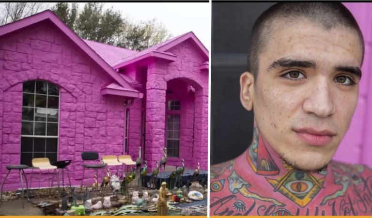 Man In Texas Paints His House In Shades Of Pink And Got Criticized By Neighbors