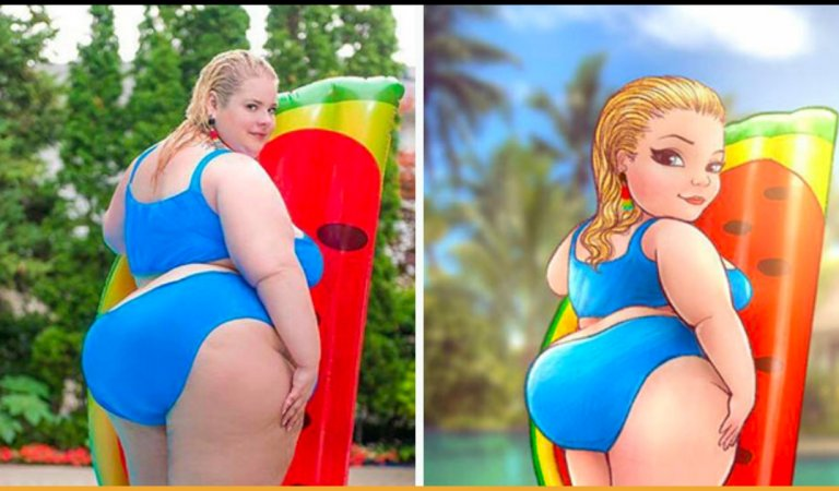This Artist Breaking The Stereotypes Turns Pictures Of Plus-Sized Women Into Art