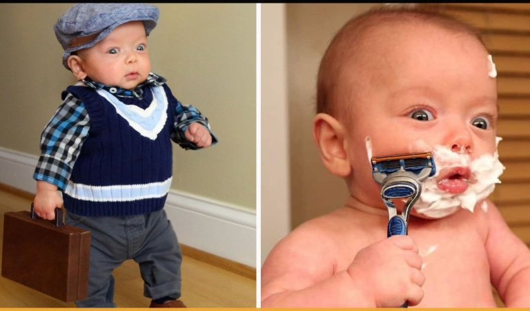 This Dad Makes His Premature Baby Do Manly Things And It's Just Too Cute