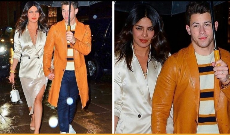 Priyanka Chopra Looked Stunning In White Satin Blazer During Jonas Brothers Performance