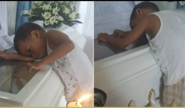 5-Year-Old Kid Hugging His Mom's Coffin Asks Her Why Is She Not Sleeping Beside Him