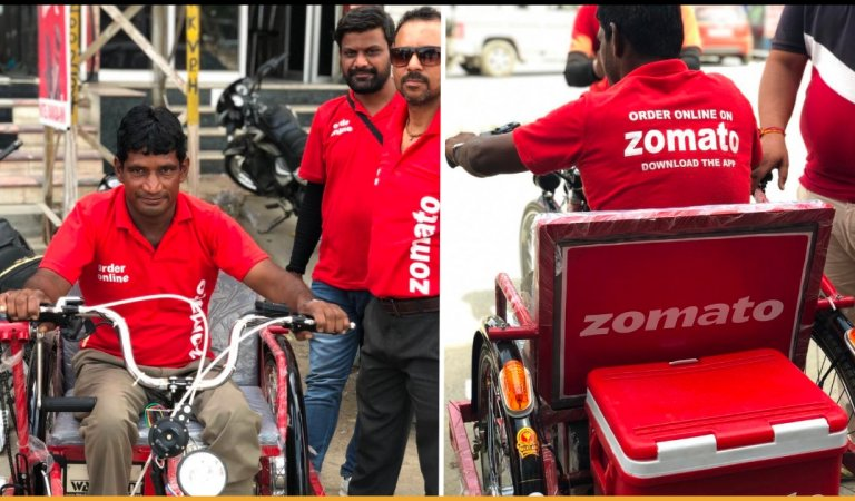 Specially-abled Boy Who Delivered Food On Wheelchair Received Electric Tricycle From Zomato