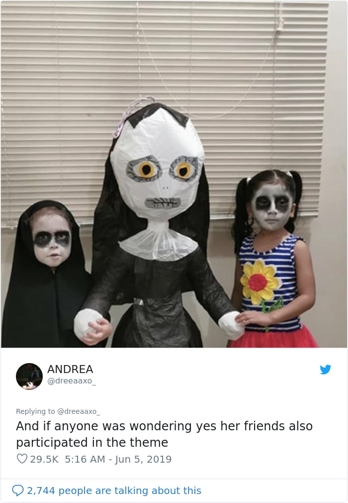 This 3-Year-Old Girl Pick Up 'The Nun' As The Theme For Her Birthday Party