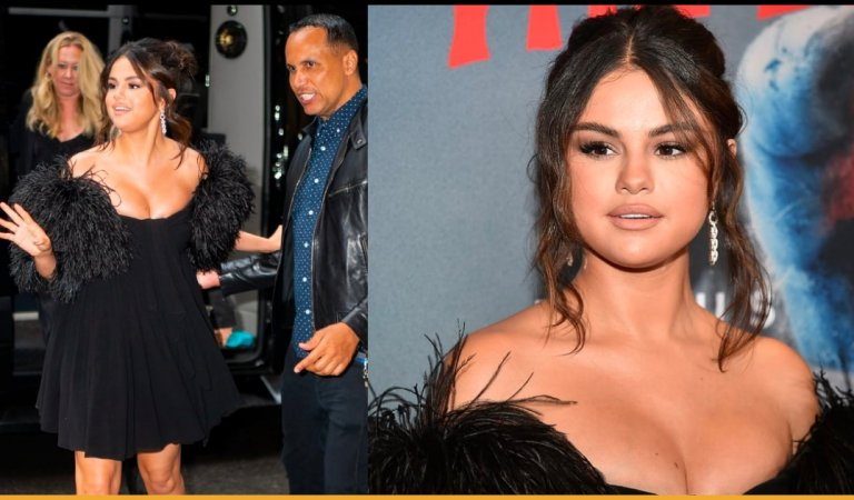 Selena Gomez Wore A Flirty Mini Black Dress At The Premiere Of The Dead Don't Die