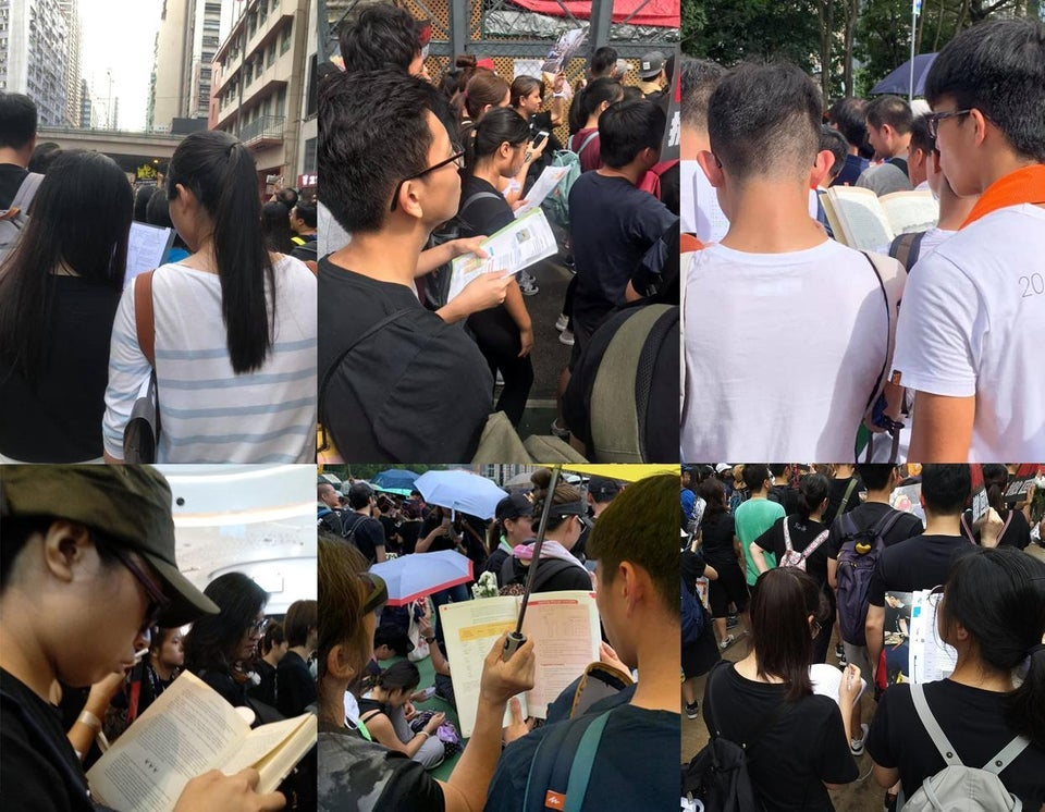 Students In Hong kong Caught Studying During A Massive Protest for extradition bill