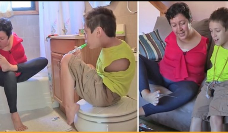 Born Without Arms, This Mother and Son Duo Defeat All Odds And Live Life To Fullest