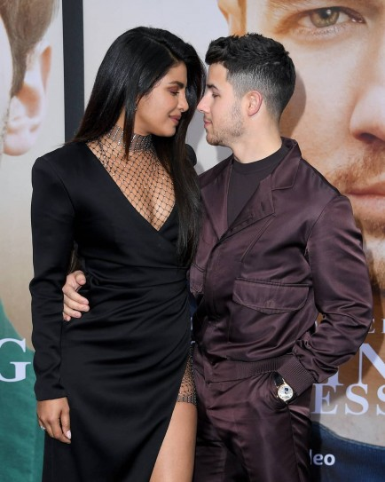 Priyanka Chopra Slayed In Black High Slit Gown At The Premiere Of Jonas Brothers' Documentary