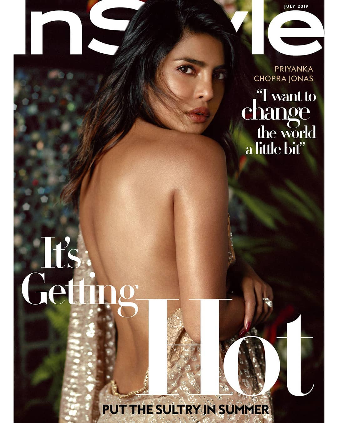 Priyanka Chopra Sizzles In Backless Saree In The New Magazine Cover Shoot