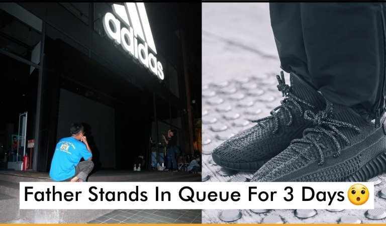 Committed Father Stands In Queue For 3 Days To Buy Him His Favorite Sneakers