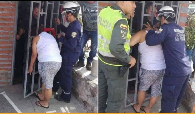 Woman Gets Her Head Stuck In Metal Gate For 5 Hours While Spying On The Next Door