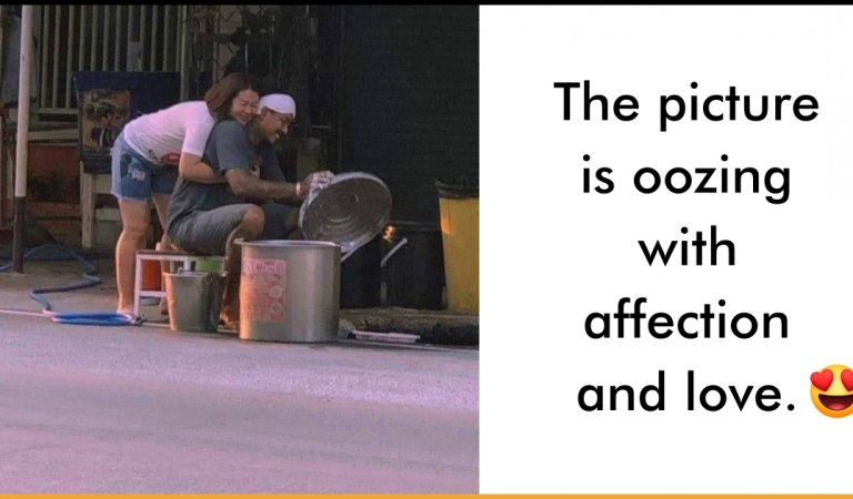 Viral Photo Of Couple At Roadside Proves That Being In Love Is Greater Bliss Than Being Rich