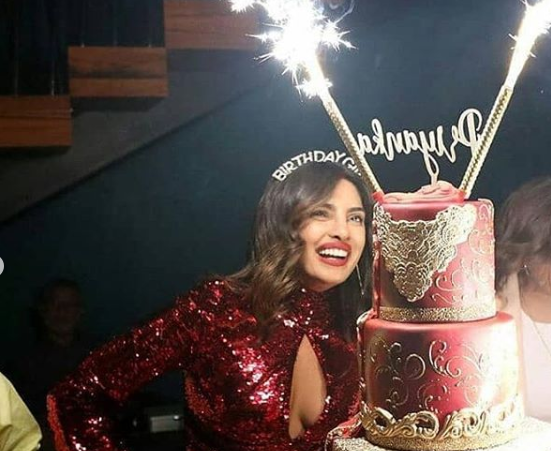 The Fancy 5 Storey Birthday Cake For Stunning Priyanka Chopra As She Turns 37