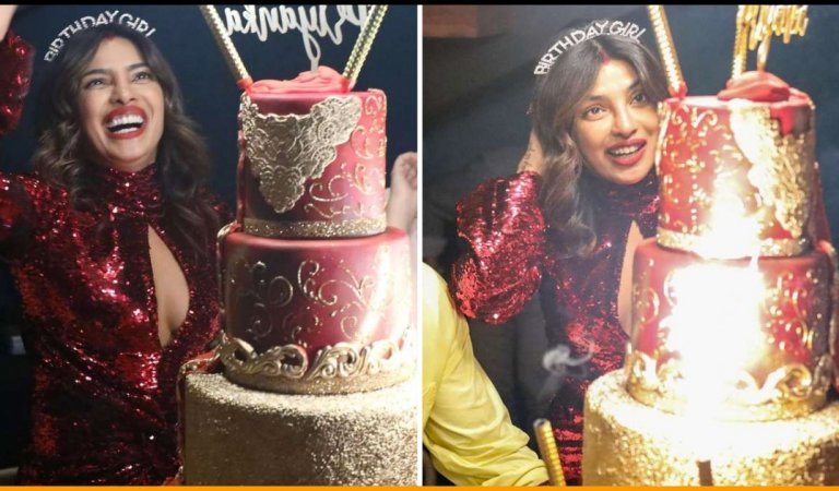 Have A Look At The Fancy 5 Storey Birthday Cake Of Priyanka Chopra As She Turns 37