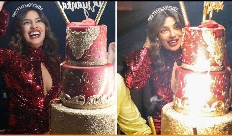 Have A Look At The Fancy 5 Storey Birthday Cake Of Priyanka Chopra As She Turns 37