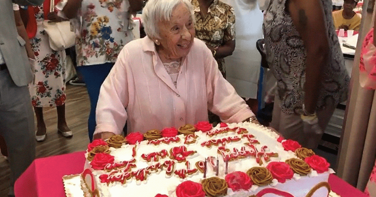 107-Year-Old Lady Reveals The Secret Of Her Stress-Free Long Life Is Never Getting Married