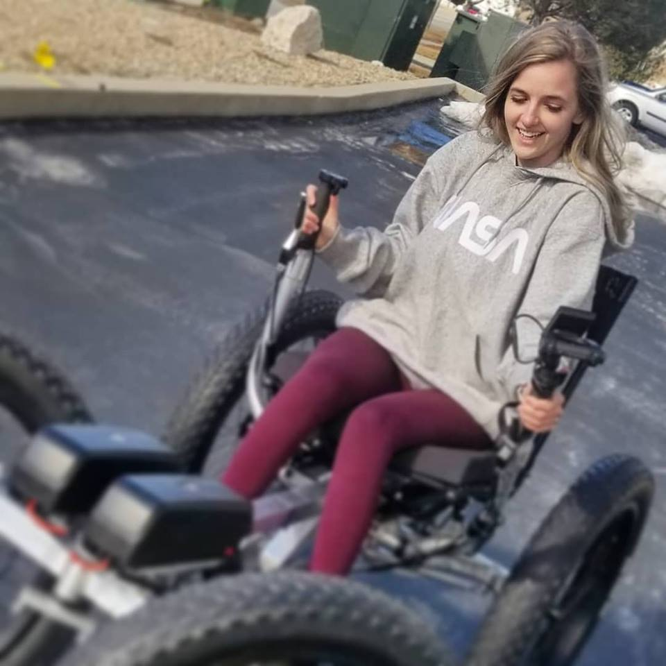 Youtuber's Girlfriend on a wheelchair