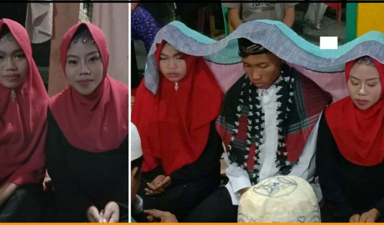 Indonesian Man Marries Two Of His Girlfriends Simultaneously So That None Of Them Gets Hurt