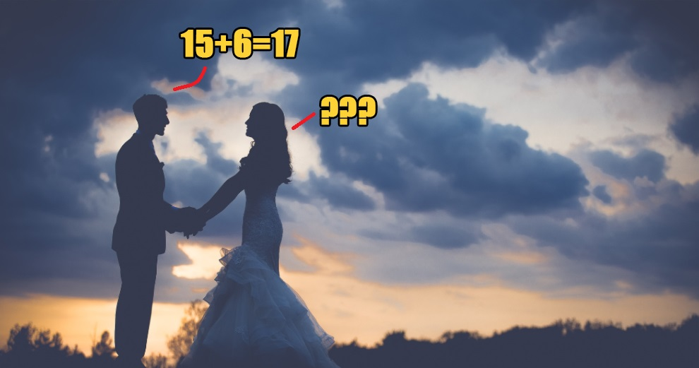 Bride asked groom a simple math question