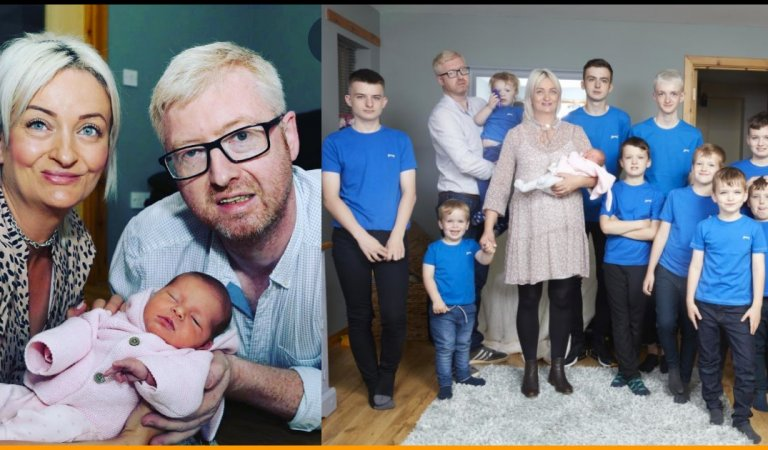 Mom From Britain Gives Birth To A Girl Child After Having 10 Sons In A Row