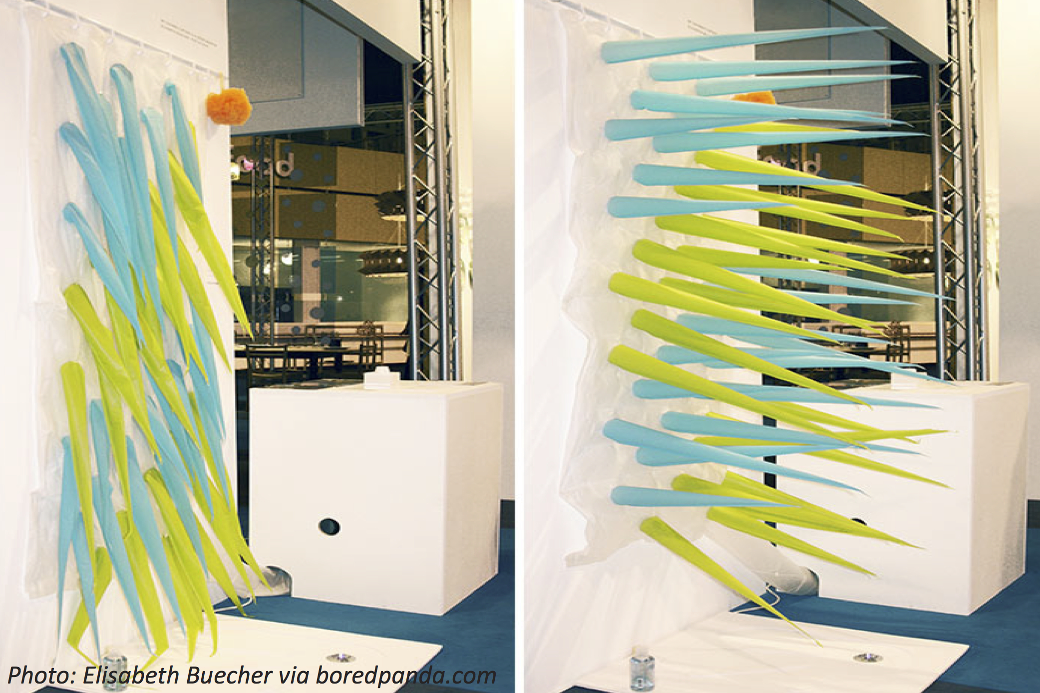 Artist Invents Shower Curtains With Spikes