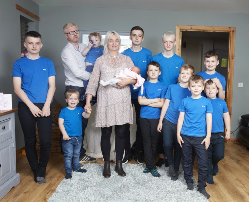 Mom Gives Birth To A Girl Child After Having 10 Sons