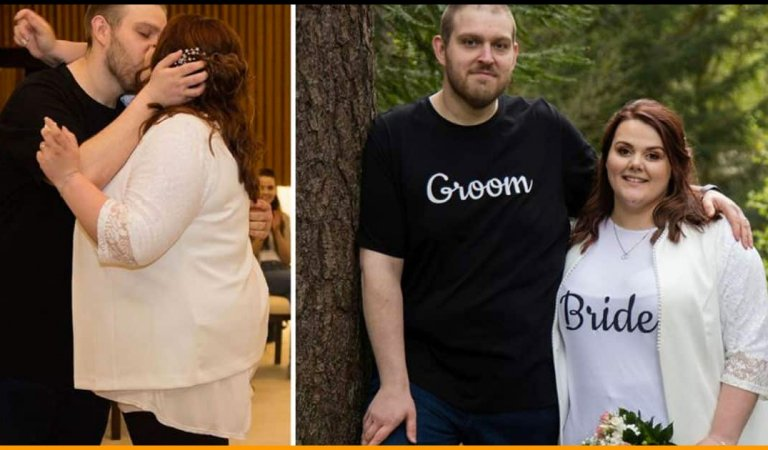 Couple Ties The Knot Wearing Jeans and Shirts To Show Weddings Don't Have To Be Expensive