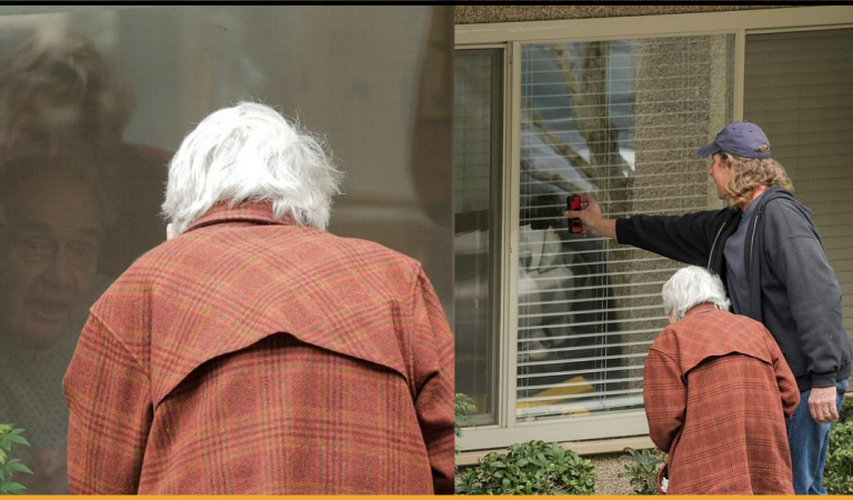 Heartbreaking Picture Shows Elderly Couple Separated by Coronavirus Lock-down