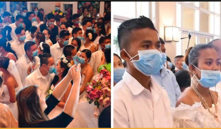 More Than 200 Couples Got Married Wearing Surgical Mask in Philippines