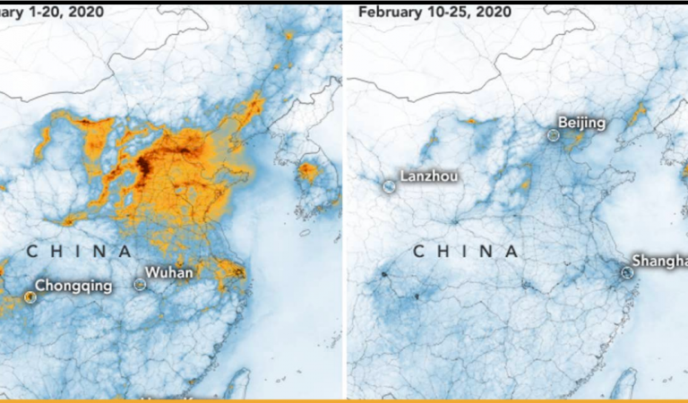 Satellite Images By NASA Shows Pollution Drops in China As Coronavirus Made Factories Shut