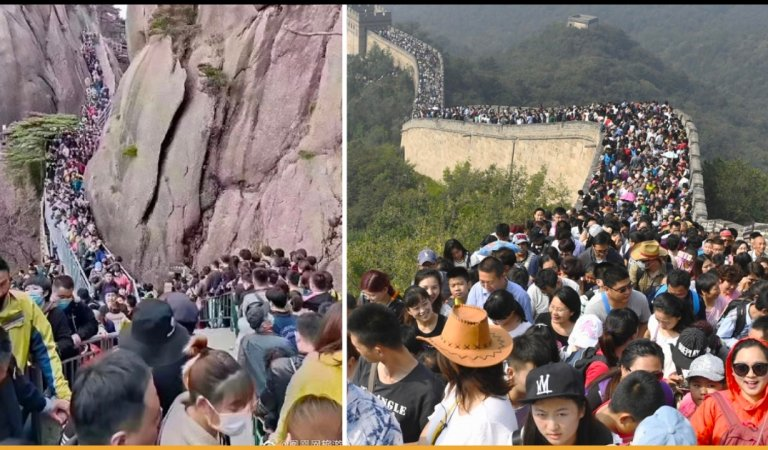 Chinese Tourists Packed A National Park In China After The Lockdown Lifts