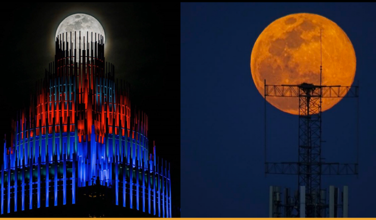 Best Pictures of Breathtaking Pink Supermoon Of 2020 From All Over The Internet